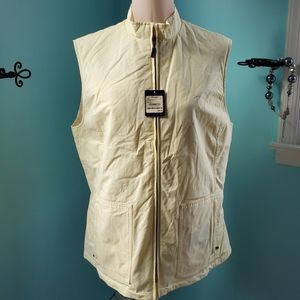 Faconnable pale Yellow reversible vest NWT